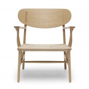 LOUNGE chair CH22 - Oak - Natural