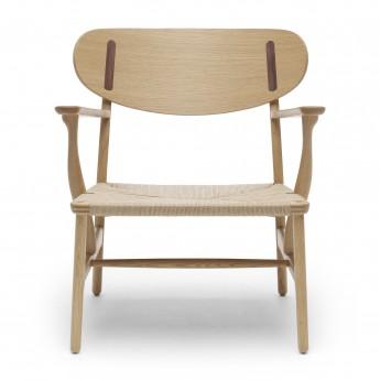 LOUNGE chair CH22 - Oak/Walnut - Natural