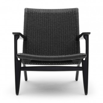 LOUNGE chair CH25 - Black Oak - BLack