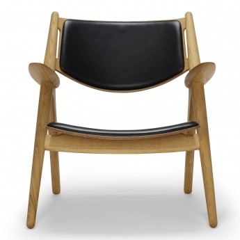 LOUNGE chair CH28 - Oak oil - Leather