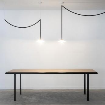 Table rectangulaire WOODEN - Noir - 300 cm