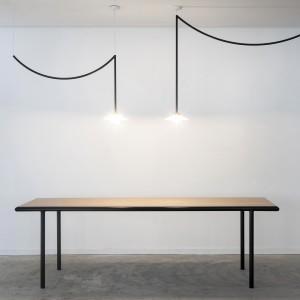 WOODEN rectangular table - Black - 300 cm