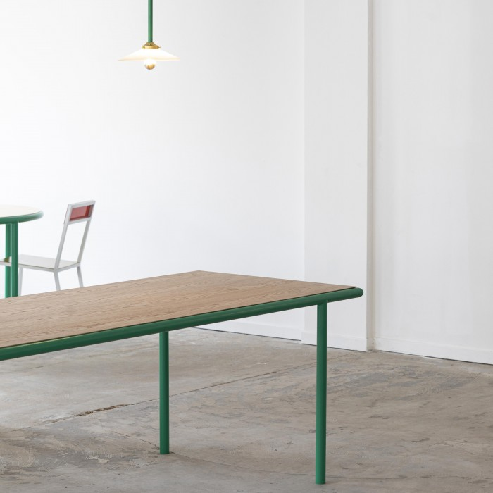 Table rectangulaire WOODEN - Vert - 240 cm
