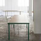 WOODEN rectangular table - Vert - 240 cm