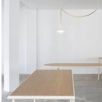 Table rectangulaire WOODEN - Ivoire - 240 cm