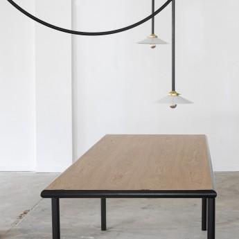 Table rectangulaire WOODEN - Noir - 240 cm