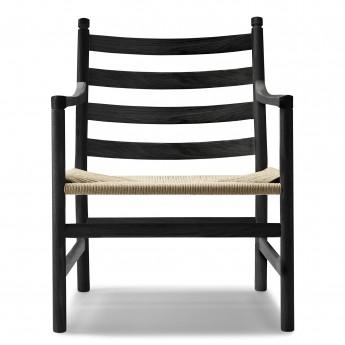 LOUNGE chair CH44 - Black oak - Natural