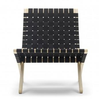 Chaise CUBA - Chêne - Coton noir