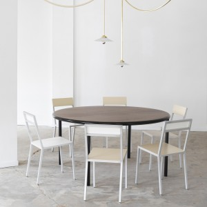 WOODEN Round table - Black