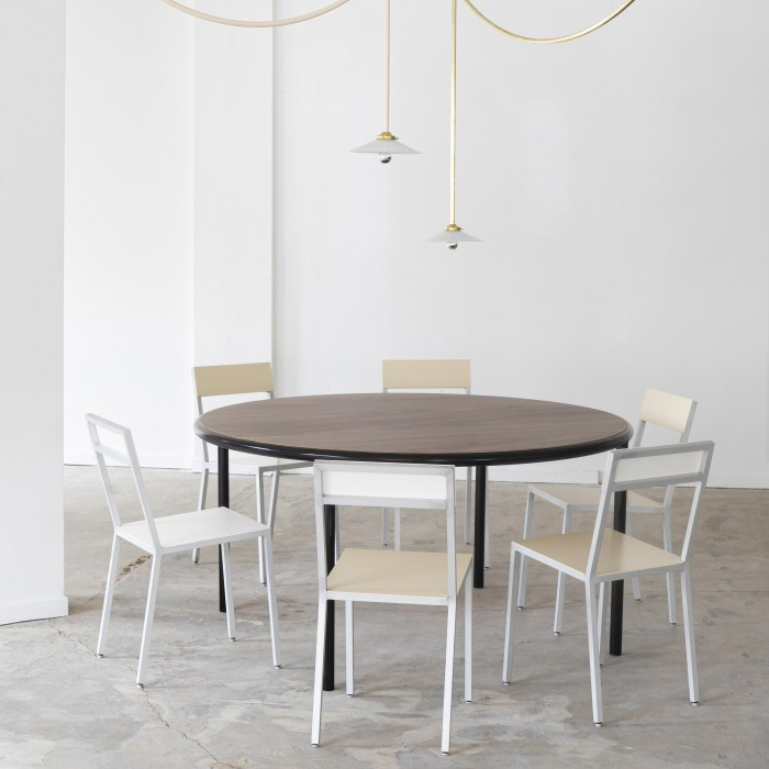 WOODEN Oval table - Black