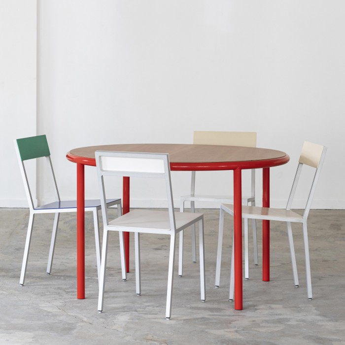 Table round WOODEN - Rouge