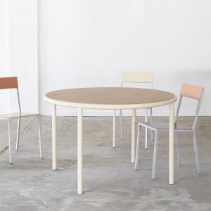 Table round WOODEN - Ivoire
