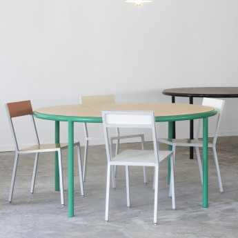 Table round WOODEN - Noir