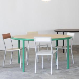 WOODEN Round table - Vert