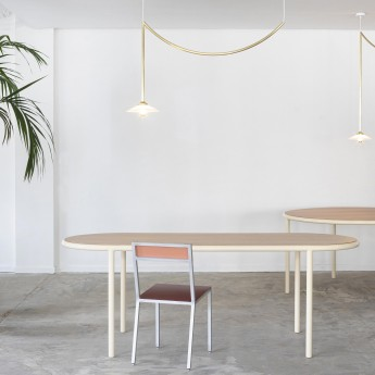 WOODEN Oval table - Ivoire
