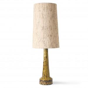 Retro stoneware lamp - mustard