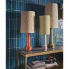 Retro stoneware lamp - orange