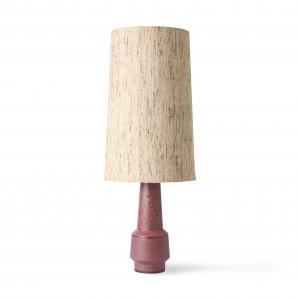 Retro stoneware lamp - purple