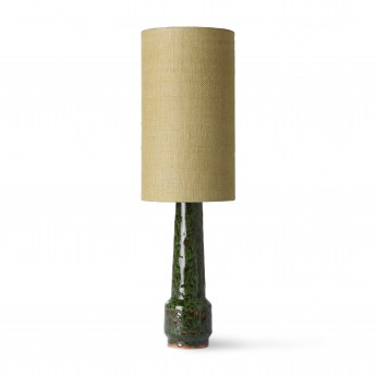 Retro stoneware lamp - green