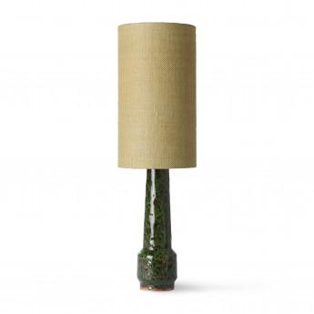 Retro stoneware lamp - green