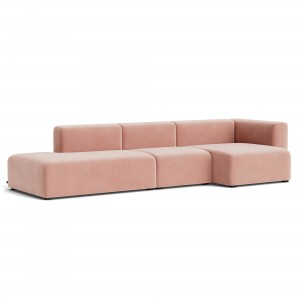 Canapé MAGS comb 4 - velours rose