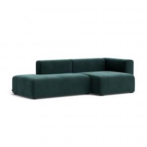 MAGS sofa comb 3 - dark green velvet