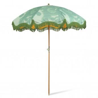 Beach umbrella classic floral pistachio