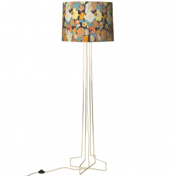 fDORIS foor lamp - Floral pattern