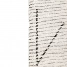 Hand woven cotton rug - Cream/charcoal