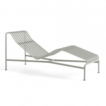 Chaise longue PALISSADE gris clair