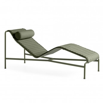 Chaise longue PALISSADE olive