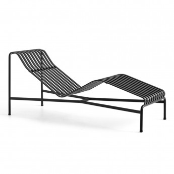 PALISSADE Chaise longue anthracite