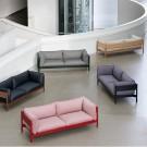 ARBOUR 3 seaters sofa - Linen Grid dark beige