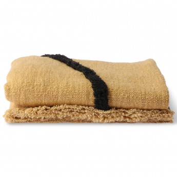 Soft WOVEN throw ochre