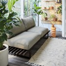 Aluminium outdoor LOUNGE sofa - Charcoal