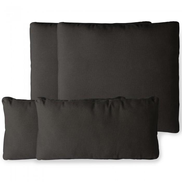 Outdoor lounge sofa cushion set - Black (ukfr)