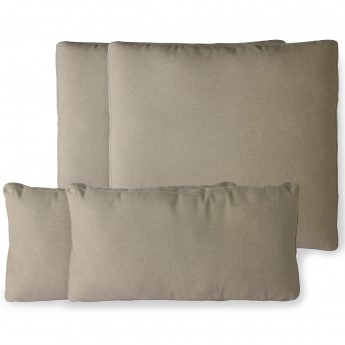 Outdoor lounge sofa cushion set - Brown