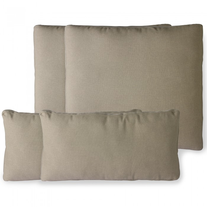 Outdoor lounge sofa cushion set - Brown