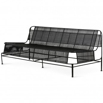 Woven outdoor LOUNGE sofa - Black