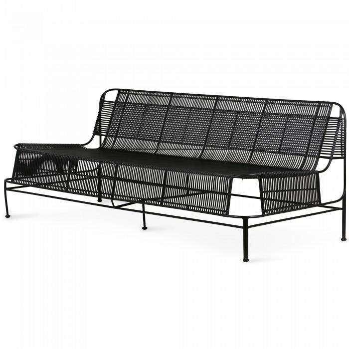 Woven outdoor LOUNGE sofa - Black