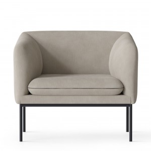 TURN 1 seater - Black powder - Cotton and linen
