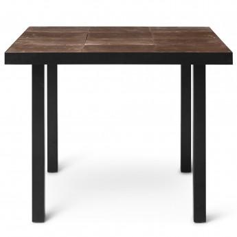 Table de café FLOD TILES - Moka/noir
