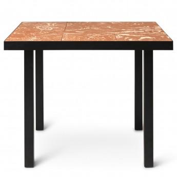 FLOD Tiles Café Table - Terracotta/Black