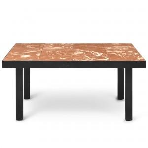Table basse FLOD TILES - Terracotta/noir