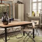 FLOD Tiles Dining Table - Moka/Black