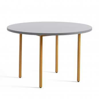 TWO COLOUR round table - yellow and light grey
