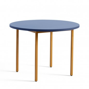 TWO COLOUR round table - yellow and blue