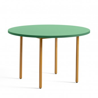 TWO COLOUR round table - yellow and green mint