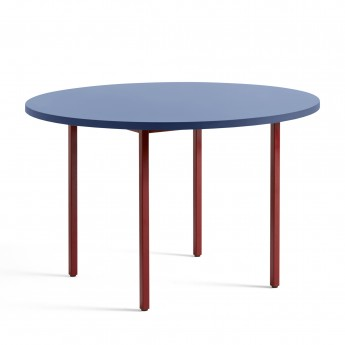 TWO COLOUR round table - red and blue