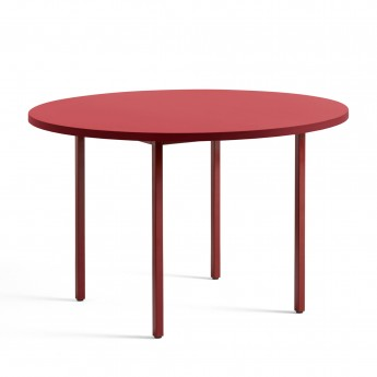 TWO COLOUR round table - red and red